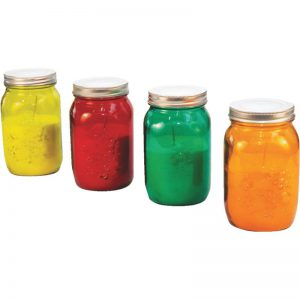 رنگ جار شیشه ای و پلاستیکی