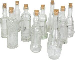 انواع بطری شیشه ای با چوب پنبه