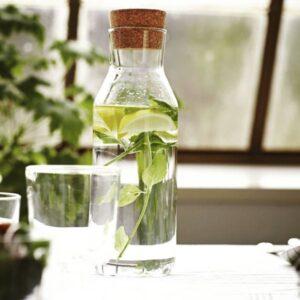بطری شیشه ای با چوب پنبه یک لیتری